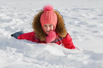 Winter children's joy