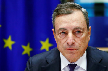 ECB President Draghi testifies before the EU Parliament's Economic and Monetary Affairs Committee in Brussels