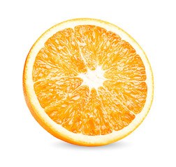 Orange fruit. Orang slice isolate on white background