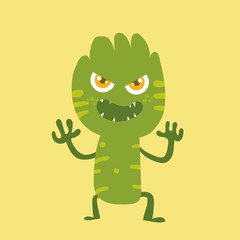 Cute monster cartoon character 011