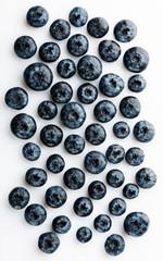 Tasty blueberries isolated on white background