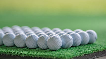 Golf Ball On Artificial Grass