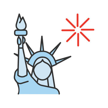 The Statue of Liberty color icon