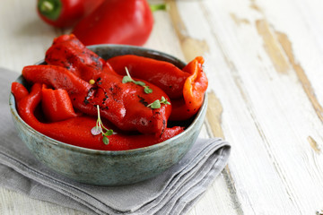 red pepper grilled with herbs and spices