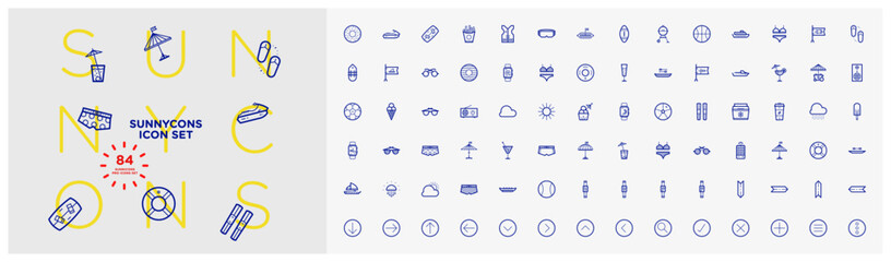 Sunnycons – set of vector icons
