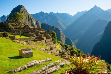 Sunrise on Machu Picchu, the lost city of inca