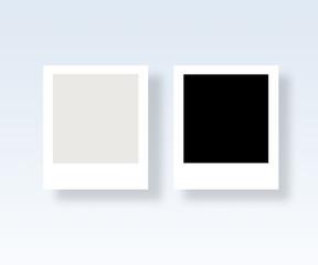 Mockup of blank photos frame card with shadow.