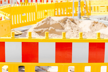 Street Repair fence, road closed