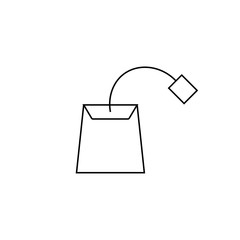 Line icon- teabag. Symbol, logo illustration. Pixel perfect vector