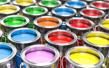 3D Illustration bunte Farben