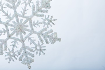 Artificial Snowflake Close-up