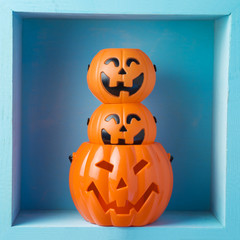 Halloween holiday composition with jack o lantern
