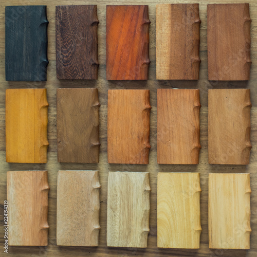 Pieces Of Wood Of Different Shades Stock Photo And Royalty Free