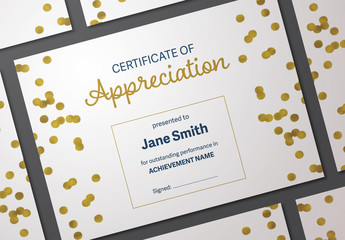 Certificate of Appreciation Layout