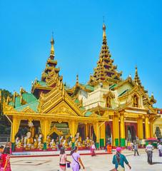 Pavilion of Western Stairway of Shwedagon Pagoda, Yangon, Myanmar