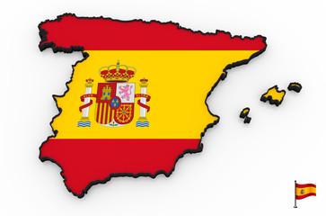 Spain high detailed 3D map