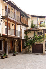 Street of  San Martin del Castanar; Sierra de Francia Nature Reserve; Salamanca province; Castilla Leon; Spain