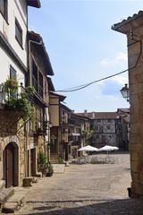 square, Mogarraz, Sierra de Francia Nature Reserve; Salamanca province; Castilla Leon; Spain