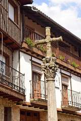 square of Cross, Mogarraz, Sierra de Francia Nature Reserve; Salamanca province; Castilla Leon; Spain