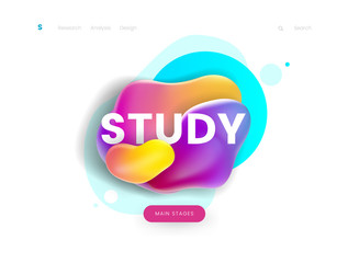 Landing page template, can be used for education, study, courses and learning website