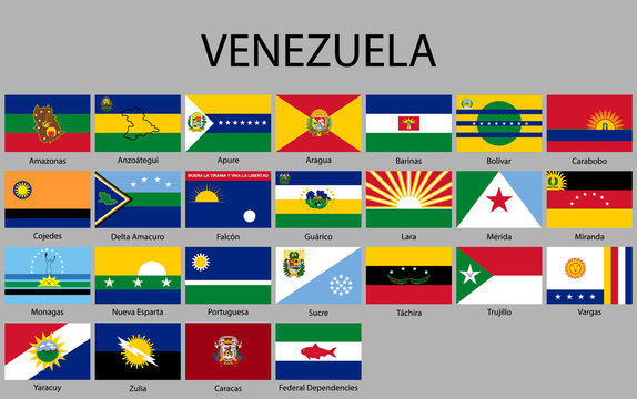 all Flags states of Venezuela.