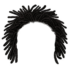 trendy african long  hair dreadlocks . 