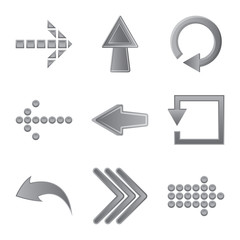 Isolated object of element and arrow sign. Collection of element and direction stock vector illustration.