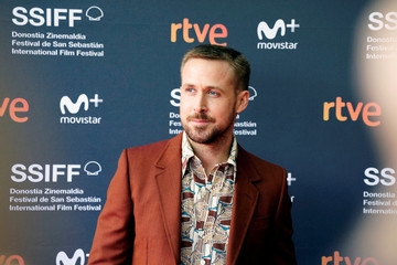 """Canadian actor Ryan Gosling arrives to a showing of the feature film """"First Man"""" at the San Sebastian Film Festival"""