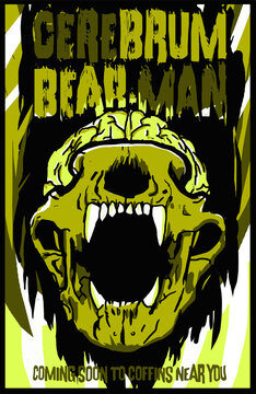 Cerebrum Bear-Man Movie Poster Illustration