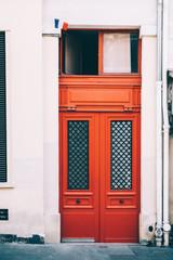 ,Porte d'immeuble parisien, Montmartre, Paris