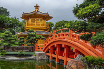 Nan Lian Garden near Chi Lin Nunnery Temple At Hong Kong
