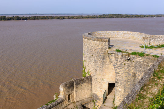 Gironde estuary from Blaye Citadel, France