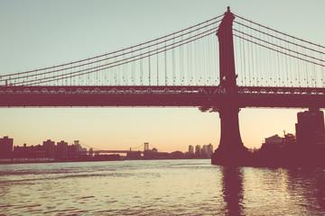 New York City. Famous landmark in USA at morning light.