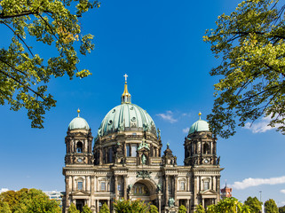 The beautiful Berlin Cathedral or Berliner Dom (German) is the protestant cathedral in Berlin,...