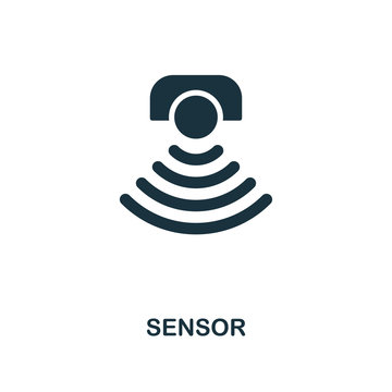 Sensor icon. Monochrome style design from machine learning icon collection. UI and UX. Pixel perfect sensor icon. For web design, apps, software, print usage.
