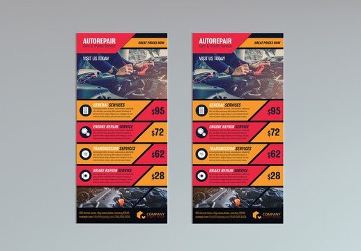 Red and Orange DL Flyer Layout