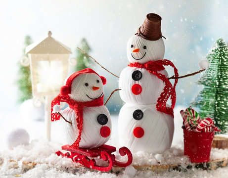 Christmas or New Year festive card