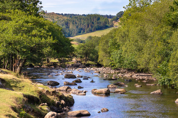 River Duddon in the Lake District National Park, UK. Beatiful scenic view of clean nature.
