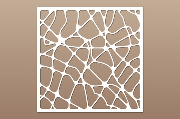 Decorative card for cutting. Abstract geometric linear