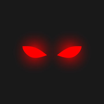 Red eyes. Vector.