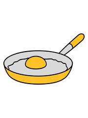 spiegelei ei eigelb eiweiß design cool köchin grillen essen lecker hunger kochen braten chef koch schürze küche frühstück pfanne comic cartoon clipart