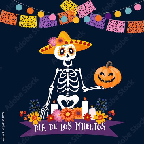 Halloween dia de los muertos greeting card mexican day of the dead halloween dia de los muertos greeting card mexican day of the dead invitation m4hsunfo