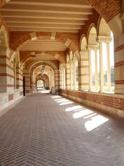 Brick covered walkway