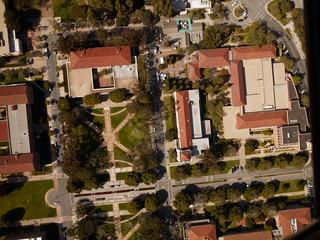 Aerial view college campus