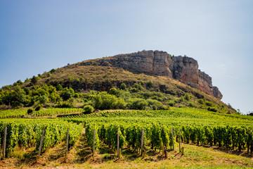 La Roche de Vergisson en Bourgogne