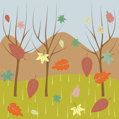 autumn nature. Element of colored autumn illustration for mobile concept and web apps. Detailed autumn nature illustration can be used for web and mobile