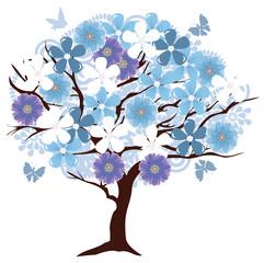 Vector Floral Tree