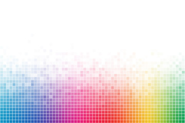 Abstract Rainbow Square Mosaic Background