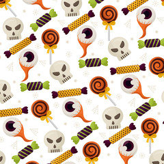 happy halloween icons pattern