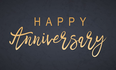 Happy Anniversary lettering